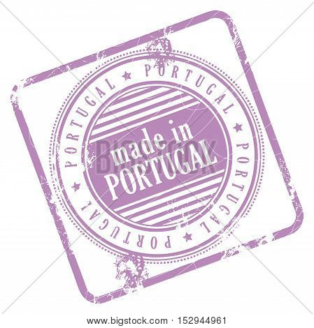 Grunge rubber stamp made in Portugal, vector illustration