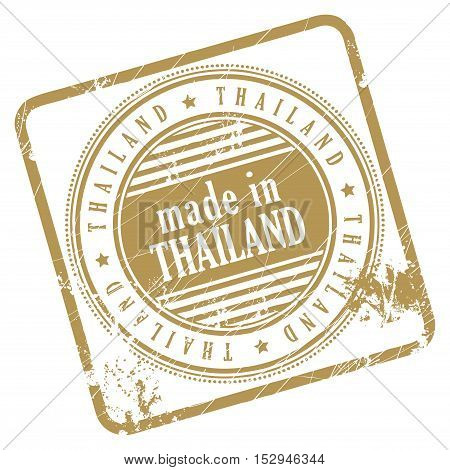 Grunge rubber stamp made in Thailand, vector illustration