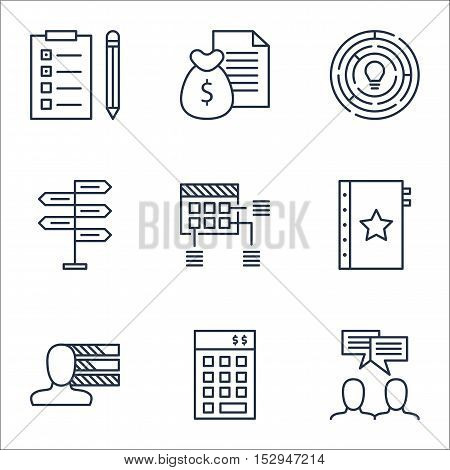 Set Of Project Management Icons On Innovation, Reminder And Opportunity Topics. Editable Vector Illu