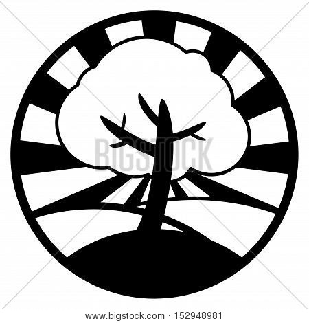 Abstract tree or ecology symbol, vector illustration