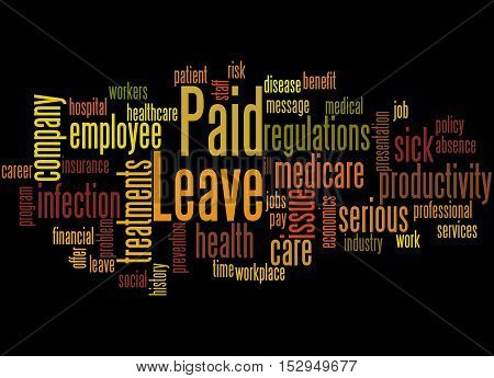 Paid Leave, Word Cloud Concept 3