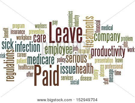 Paid Leave, Word Cloud Concept 5