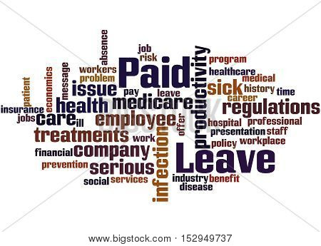 Paid Leave, Word Cloud Concept 8