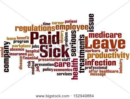 Paid Sick Leave, Word Cloud Concept 9