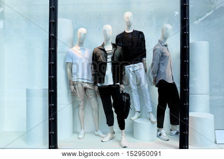 View of fashion store