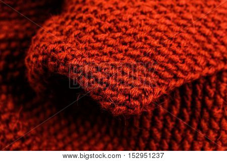 Colorful knitted horizontal textured background. Christmas and New Year Wool Design Background