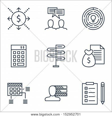 Set Of Project Management Icons On Personal Skills, Innovation And Reminder Topics. Editable Vector