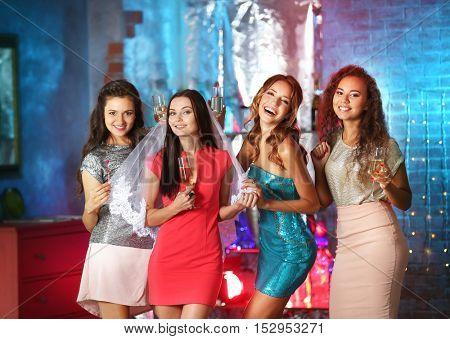 Beautiful girls in nightclub