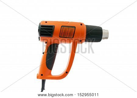 Hot air gun on white background with clipping path