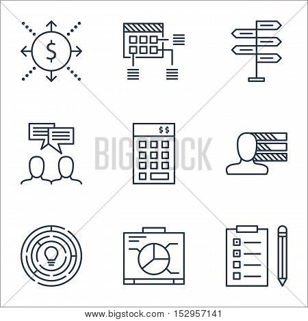 Set Of Project Management Icons On Reminder, Personal Skills And Opportunity Topics. Editable Vector