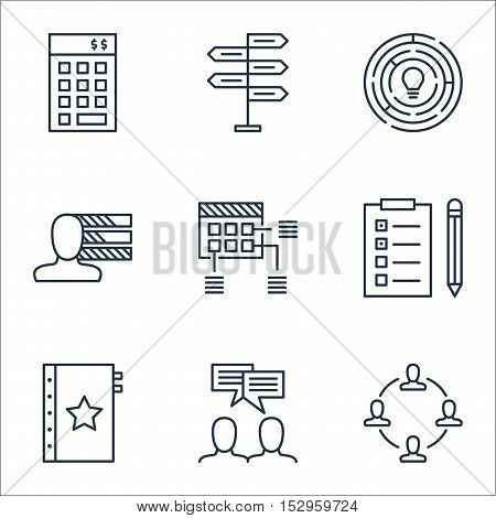 Set Of Project Management Icons On Investment, Personal Skills And Opportunity Topics. Editable Vect