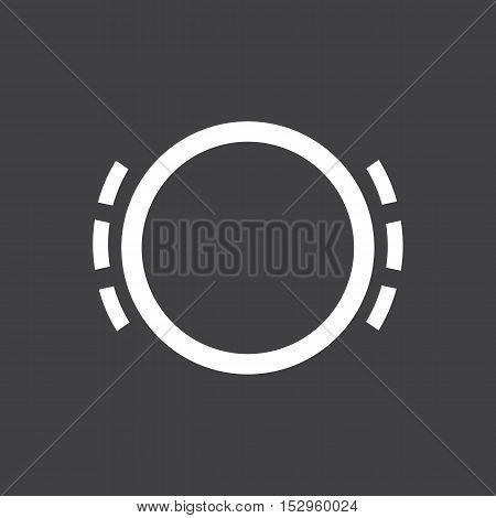 Brake pad wear icon. Car dashboard icon. Vector illustration