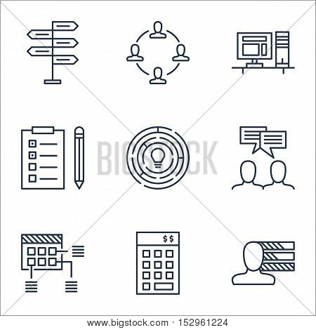Set Of Project Management Icons On Innovation, Computer And Personal Skills Topics. Editable Vector