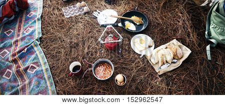 Meal Nature Food Outdoors Camping Concept