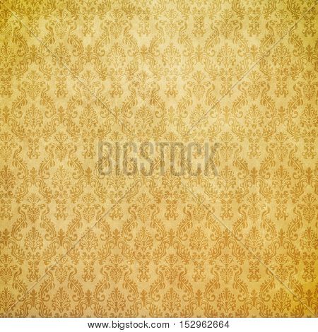 golden wallpaper. baroque style.