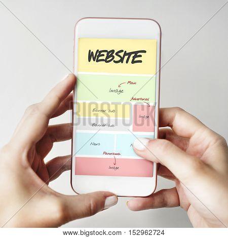 Website Content Web Design Concept