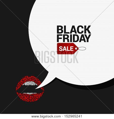 Black Friday sale speech bubble background 10 eps