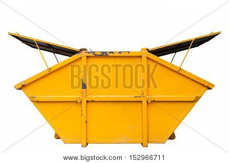 Industrial Waste Bin (dumpster) for municipal waste or industrial waste isolated on white background.