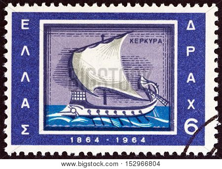 GREECE - CIRCA 1964: A stamp printed in Greece from the