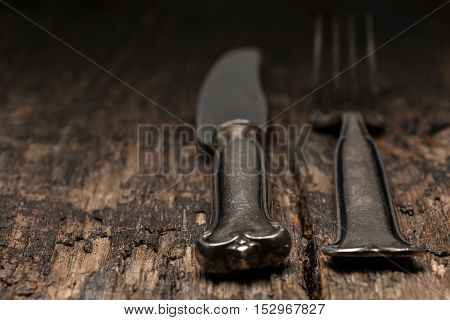 Silverware With An Empty Tag On A Table