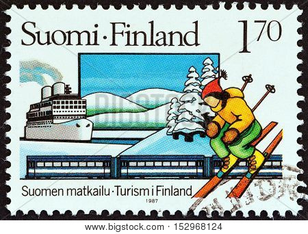 FINLAND - CIRCA 1987: A stamp printed in Finland from the