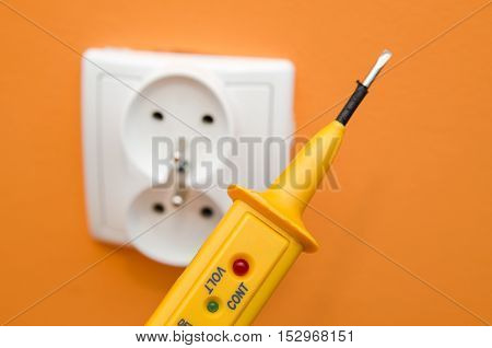 Electricity Current Meter, Turn-screw Near To The Socket.