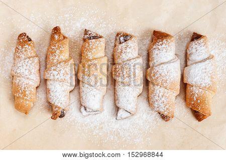 Freshly Baked Cookies On Baking Paper
