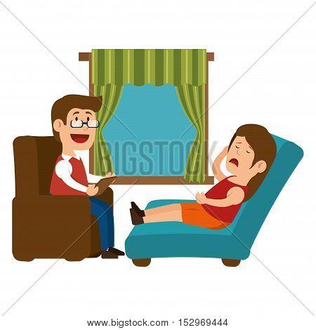 psychology offfice therapist session design vector illustration eps 10