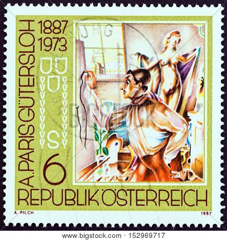 AUSTRIA - CIRCA 1987: A stamp printed in Austria from the