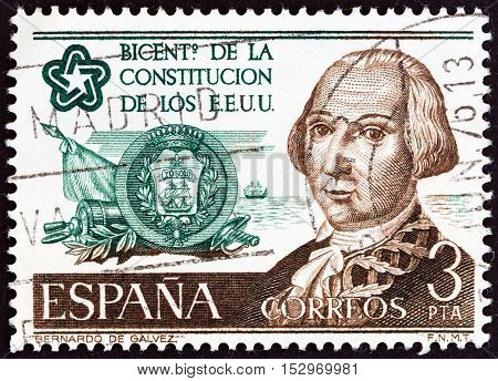 SPAIN - CIRCA 1976: A stamp printed in Spain from the