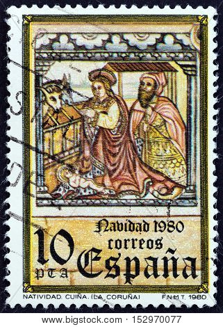 SPAIN - CIRCA 1980: A stamp printed in Spain from the