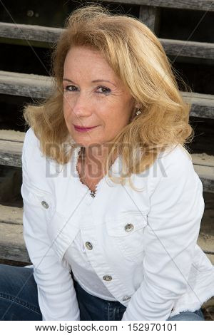 Portrait Of Positivity Senior Blond Pretty Woman