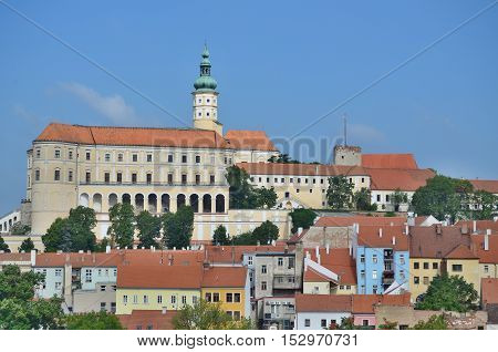 Mikulov Castle in the town of Mikulov in South Moravia 6.8.2016 Czech Republic