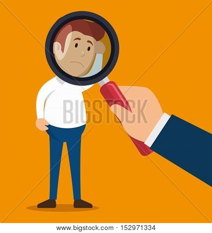 character man patient psychotherapy searching vector illustration eps 10