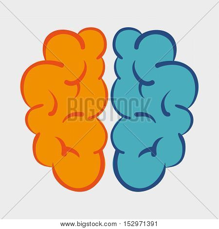 brain memory science icon graphic vector illustration eps 10