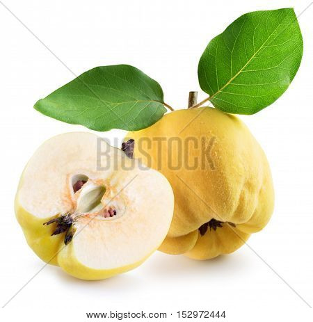 tasty quinces isolated on the white background.