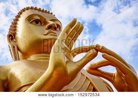 Buddha statue at Dambulla cave temple . Sri Lanka.