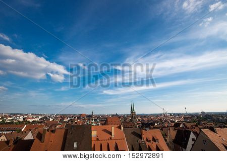 photo with view of red roofs in Munich.