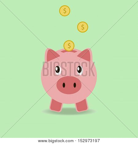 Piggy bank. Saving money. Money box piggy vector illustration