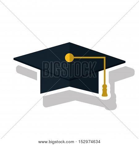 Graduation cap icon. University school and education theme. Isolated design. Vector illustration