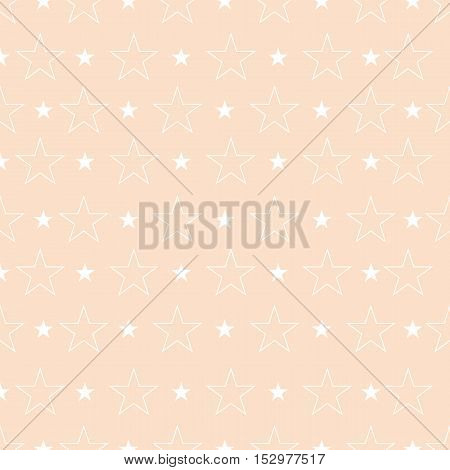 Abstract Pattern With Stars In Pastel Tones