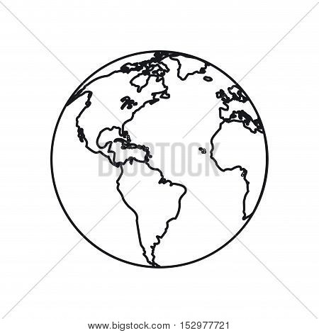 Planet sphere icon. Earth world and globe theme. Isolated design. Vector illustration