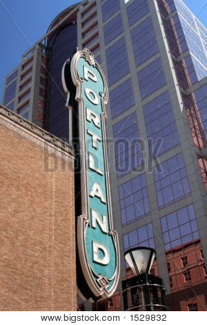 Famous Downtown Portland Oregon Sign