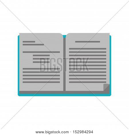 Book icon. School education supply and object theme. Isolated design. Vector illustration