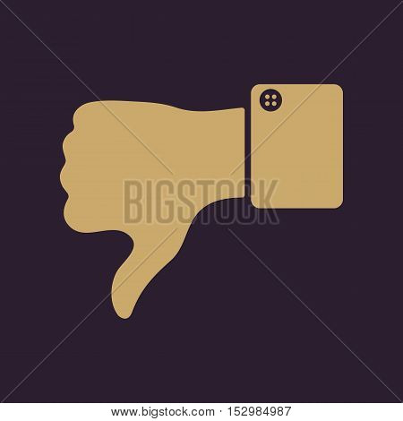 The thumb down icon. Against and no symbol. Flat Vector illustration