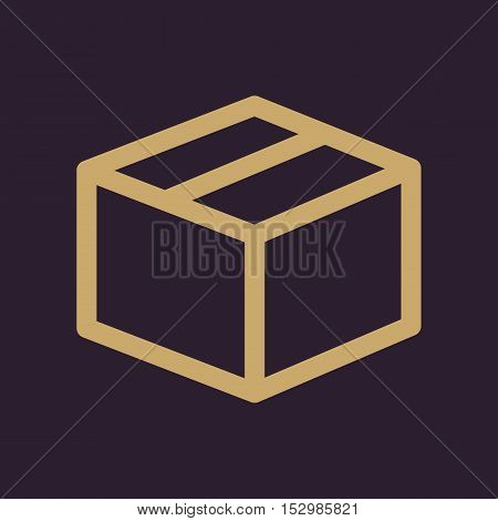 The box icon. Delivery and shipping symbol. Flat Vector illustration