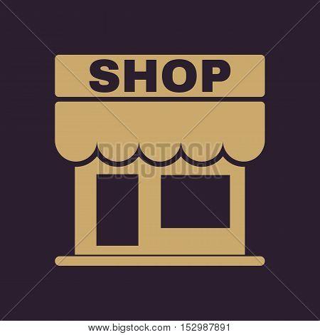 The shop icon. Store symbol. Flat Vector illustration