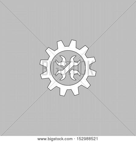 Service Simple vector button. Illustration symbol. Color flat icon