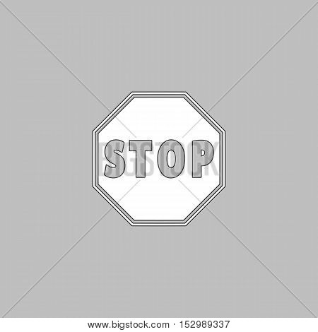 Vector Stop sign Icon Simple vector button. Illustration symbol. Color flat icon