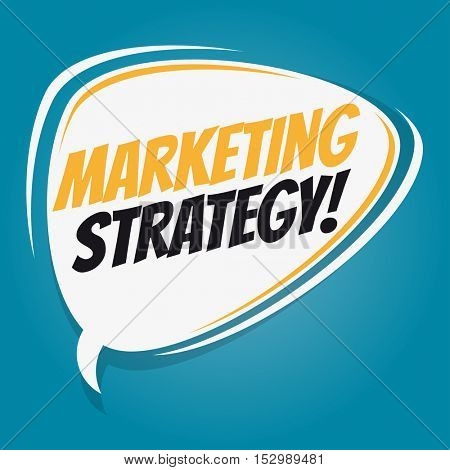 marketing strategy retro speech balloon